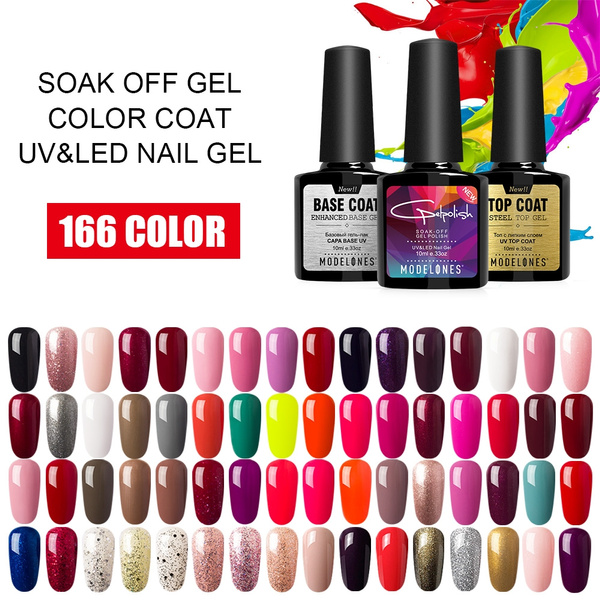 10ml 166 Pure Colors Gel Nail Polish Uv Led Gel Soak Off Vernis Semi