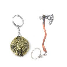 Key Chain, godofwarkeychain, Key Rings, Weapons