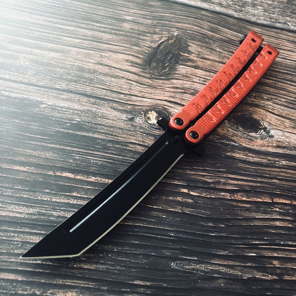 Hot ! Butterfly knife Practice Knifes OUTDOORS Tactical knives Combat  Trainer Very Sharp Survival tools