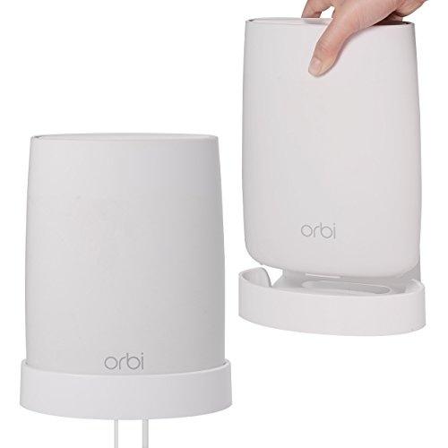 Orbi Wall Mount, [Reinforced Sturdy] ABS Wall Mount Holder for Netgear Orbi  RBK50 AC3000, RBS50, RBS40, RBK40 AC2200 Home WiFi System, Enlarging WIFI