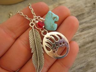 monogram, Necklace, charmpendantnecklace, inspired