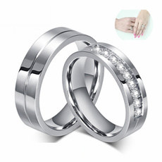 Steel, coupleringsstainlesssteel, Engagement Wedding Ring Set, wedding ring