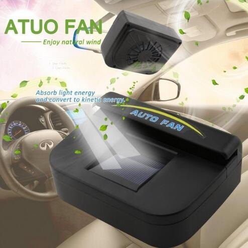 Onever Solar Sun Power Mini Air Conditioner for Car Car Window Auto Air  Vent Cool Fan Portable Car Air Conditioner Ventilation