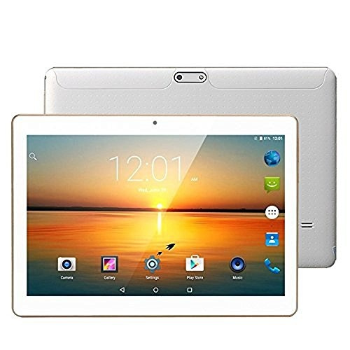 LLLCCORP Unlocked Pad 10 inch Octa Core 2 5Ghz 3G Tablet Android 6 0 Dual  SIM Card Slots 4GB RAM 64GB ROM Built-in WIFI Bluetooth GPS Google Plays