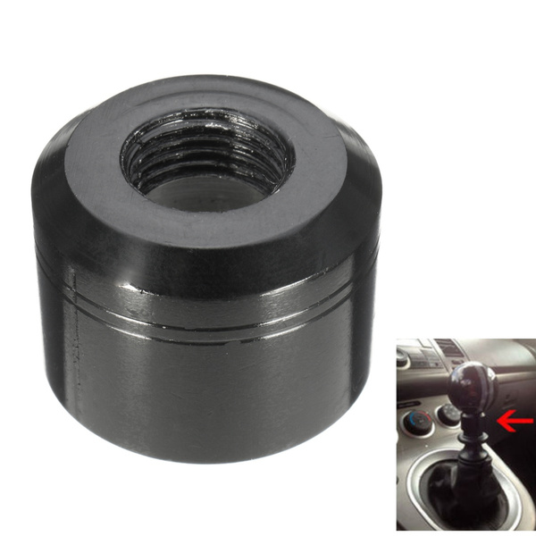 BLACK LIFT UP REVERSE LOCK-OUT SHIFT KNOB ADAPTER FOR MANUAL SHIFTER M10X1.25