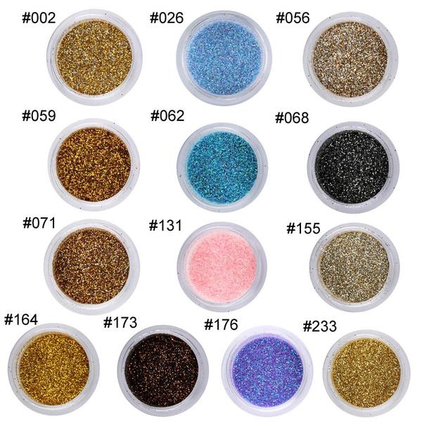 Wish   Nail Art Glitter Powder Kit Mix Acrylic Gel Powder Sequins 3D ...