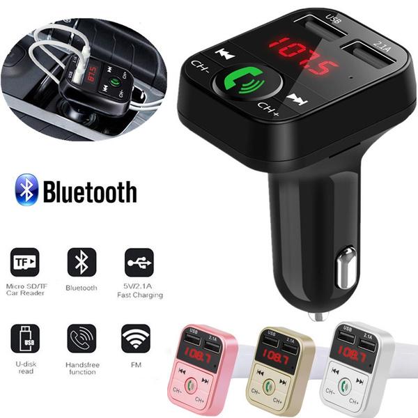 FM Transmitter MP3-Player Car Kit Handsfree Auto-Ladegerät Bluetooth USB Charger