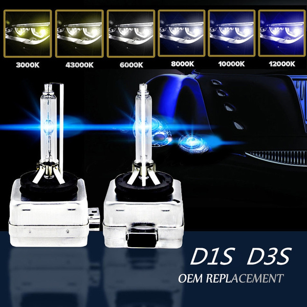 2 x NEW REPLACEMENT XENON HID Bulbs D3S 8000K 12V 35W