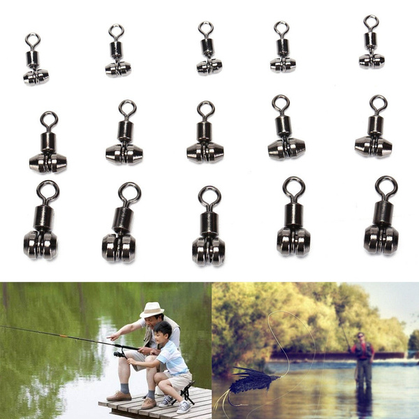 10XBall Bearing Swivel with Solid Ring Fishing Swivel Rolling Connector tools ZT