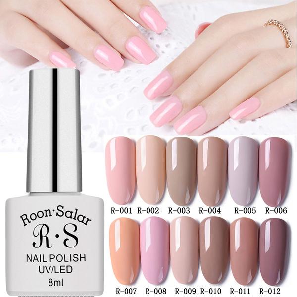 Women Fashion UV Gel Nail Polish Pure Color Nail Art Long Lasting Soak Off  Gel Polish Colored Liquid Phototherapy Nail Polish 83 Colors