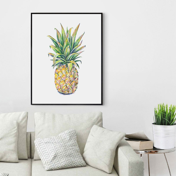 Marvelous Watercolor Pineapple Painting Watercolor Art Pineapple Decor Pineapple Print Art Nursery Summer Wall Art Kids Room Decor Wall Print Creativecarmelina Interior Chair Design Creativecarmelinacom