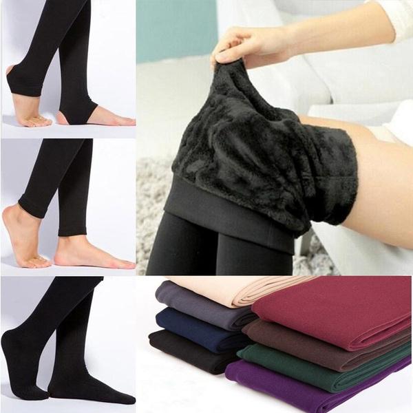 Winter Sportlegging.2018 New Fashion Women Leggings Thicken Fur Warm Fitness Sport