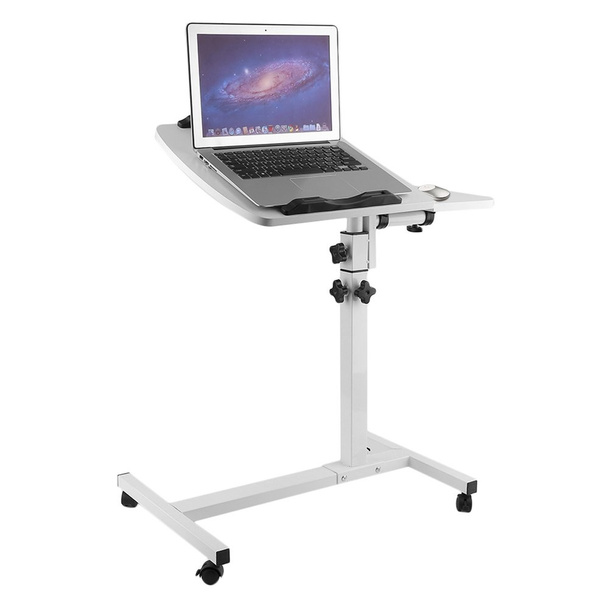Portable Adjustable Height Lazy Folding Laptop Table Movable Bedside