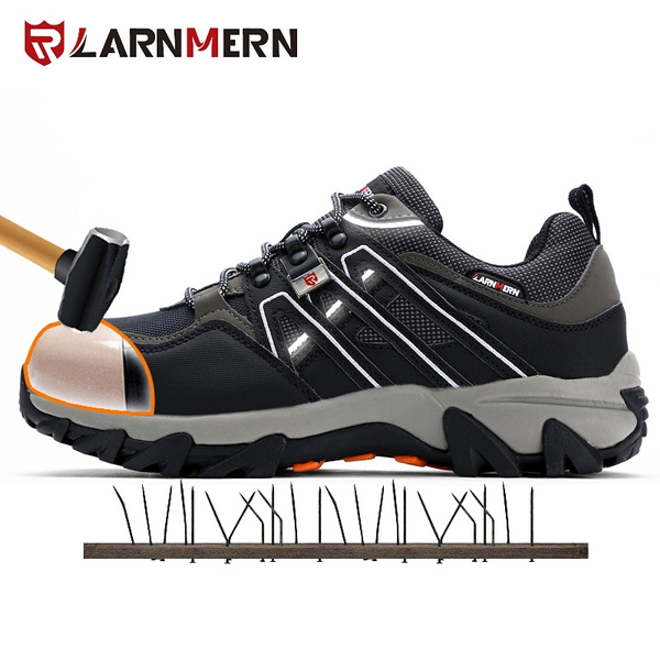 5f2987721a9 LARNMERN Men Steel Toe Safety Shoes Puncture-proof Work Shoes Breatahble  Hiking Boots