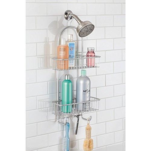 Wish | InterDesign Classico Extra Large Shower Caddy U2013 Bathroom Storage  Shelves For Shampoo, Conditioner And Soap, Silver