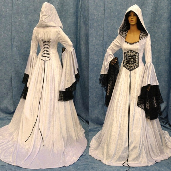 6dcd743991bd3 Women Fashion 2018 Fashion Long Sleeve Dress Medieval Renaissance Vintage  Bandage Lady Peasant Dresses Long Sleeve Girl Dress