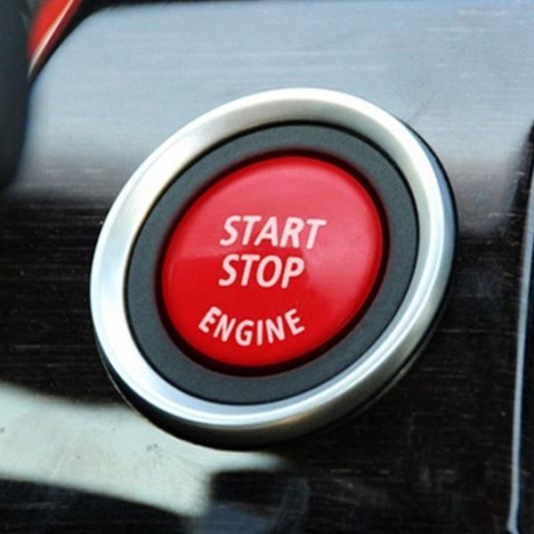 Red Car Engine Start Stop Button Cover Cap For BMW 3 5Series E90 E91 E60 E61 E84