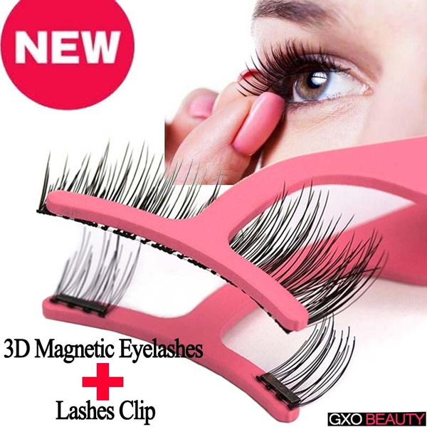 d273ea6247d GXO BEAUTY Natural Fake Eyelashes Best Magnetic Eyelashes 3D Mink ...