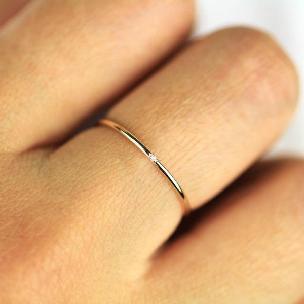 minimalist, thindiamondring, stackablering, Jewelry