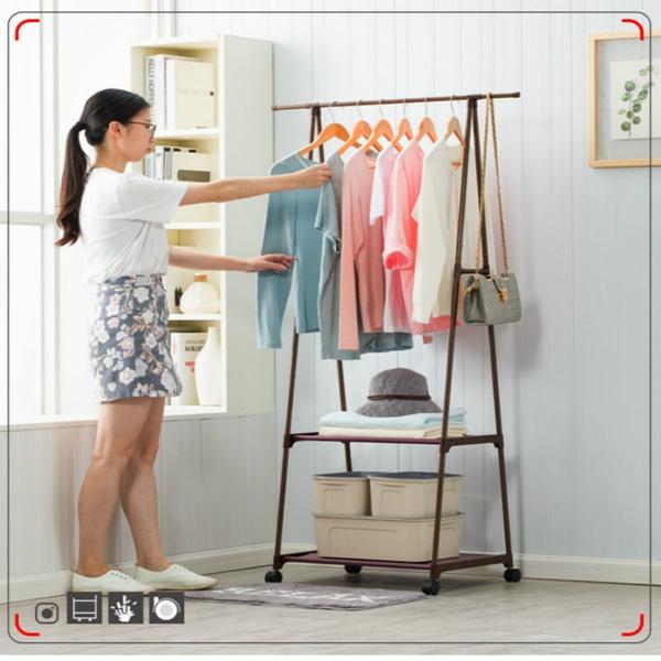 Triangle Coat Rack Removable Hangers Bedroom Clothes Hanger Floor Stand  Coat Rack with Wheels Hanging Clothes Rack