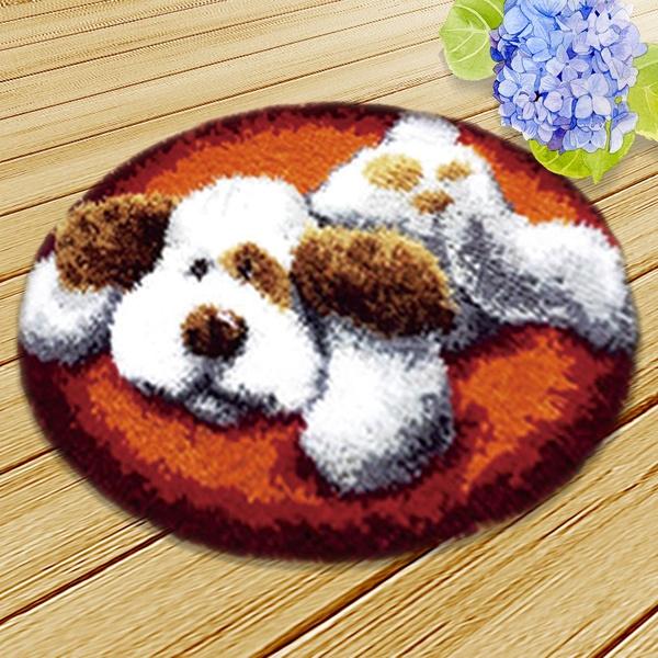 Newly Toy Poodle Diy Latch Hook Kit