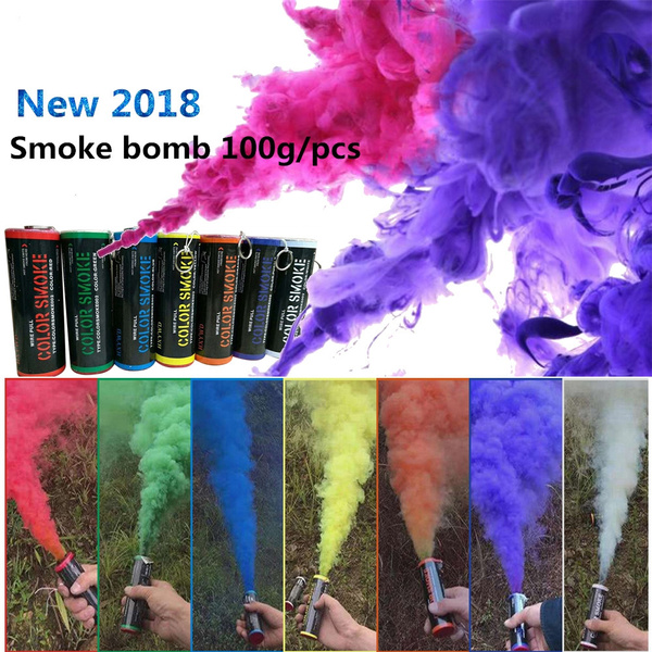 1Pc Long Time Show Smoke Toy Photography Colorful Smoke Effect Show Pull  Ring Type Color Smoke Tube Bomb Colorful Smoke Film Special Prop Outdoor