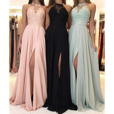 sleeveless, Fashion, Lace, Chiffon Dresses