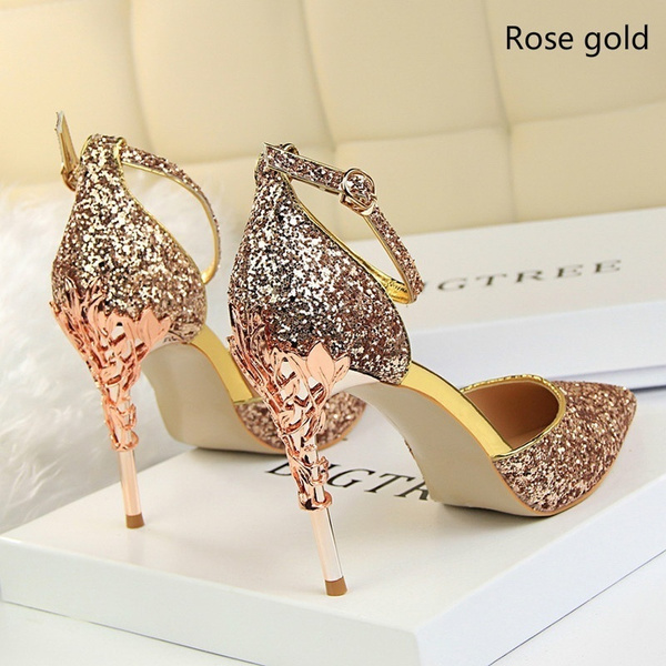 Ladies Women/'s High Heel Point Toe Stiletto Sandals Ankle Strap Court Shoes