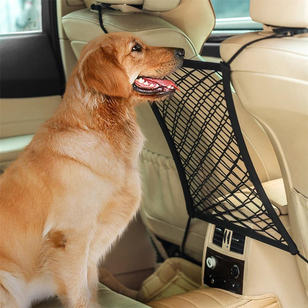 Car Dog Barrier Seat Net Organizer Universal Stretchy Auto ...