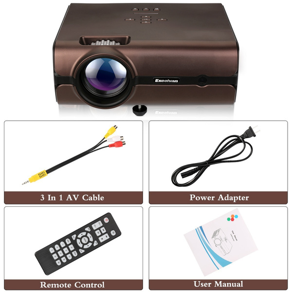BL46 Wifi Video Projector HD Home Theater Projector Support Bluetooth 4 0  1080P Wireless Connection With Smartphone Tablet Many Interfaces USB VGA SD