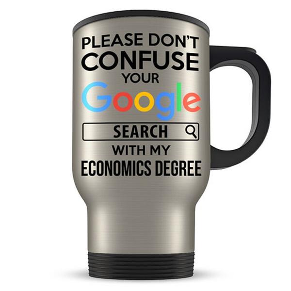Economics travel mug, accountant travel