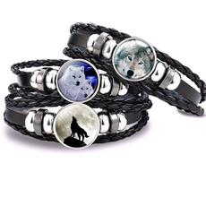 Charm Bracelet, wolfbraceletformen, Fashion, Gifts