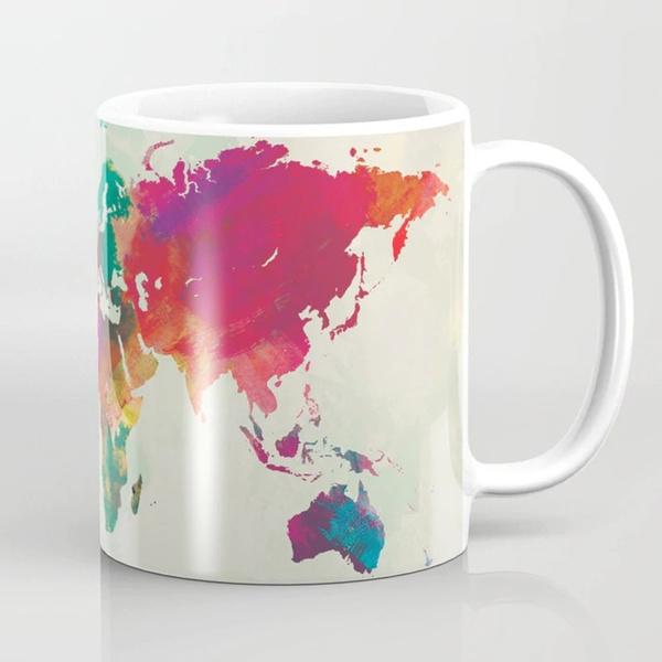 Wish World Map Coffee Mug World Map Mug Map Travel Map Map Mug