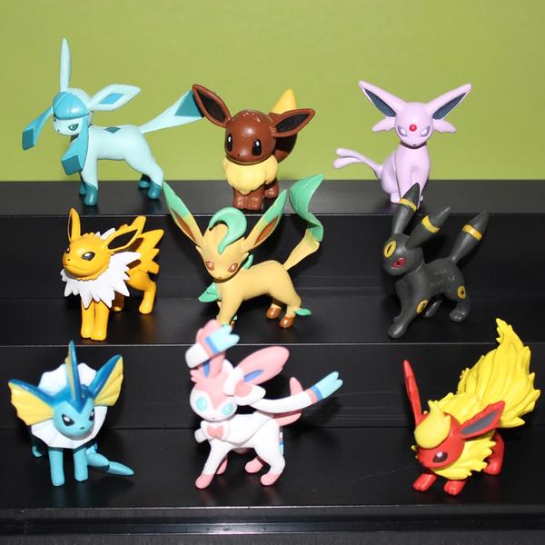 Anime Pocket Monster Eevee Evolutions Vaporeon Jolteon Flareon Espeon Umbreon Leafeon Glaceon Sylveon Pikachu Pvc 5cm Action Figure Toys by Wish