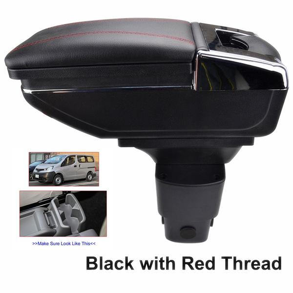Rotatable Armrest For NV200 Evalia 2010-2017 For City Express Black Thread Storage Box Arm Rest