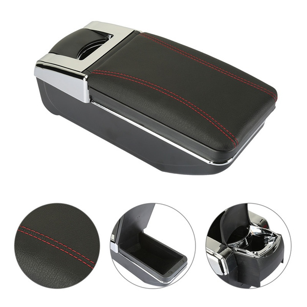 8th Generation Car Armrest Box Central Store Content Box With Cup Holder  Ashtray Accessories Case For Suzuki Swift 2005-2017