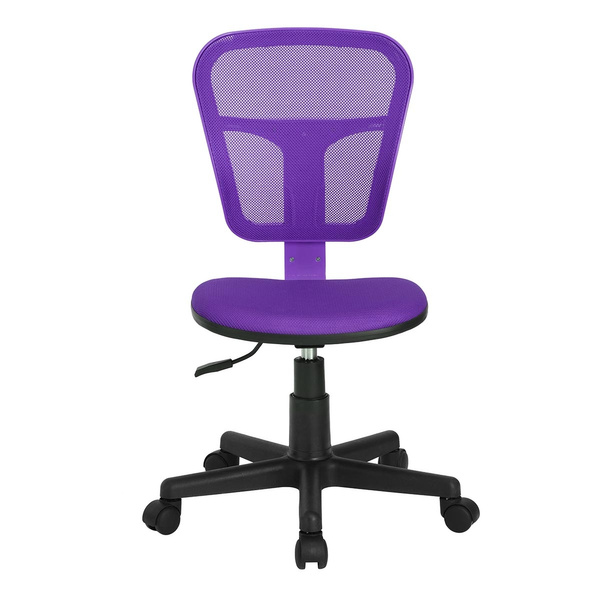 Enjoyable Furniture R Flying Mid Back Purple Mesh Computer Chair Task Desk Chair Ergonomic Office Chair Without Arms Complete Home Design Collection Epsylindsey Bellcom