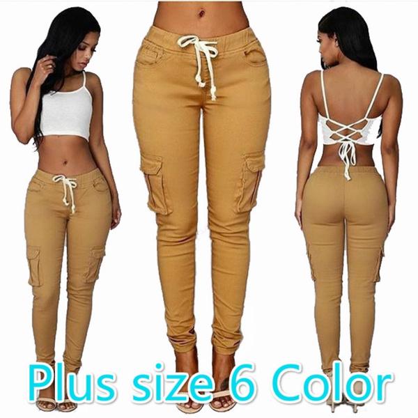 Women Pants, drawstringpant, Fashion, skinny pants