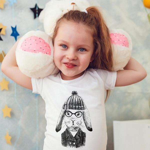 3c16df07c Hare Rabbit Kids Shirts Kids Tshirt Toddler Shirt Girls Gift for Kids  Children Hipster Kids Shirt Kid T-Shirt Boys Top Girl Top Kids Clothes |  Wish