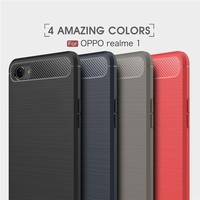 premium selection 7819f 5ad57 For OPPO Realme 1 Luxury Protection Case Slim Armor Carbon Fiber Soft TPU  Back Case for OPPO Realme1 Phone Cover 6.0inch