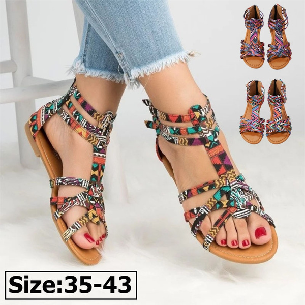 6d0e16202 Women Sandals Boho Sandals Casual Summer Shoes Sexy Beach Shoes ...