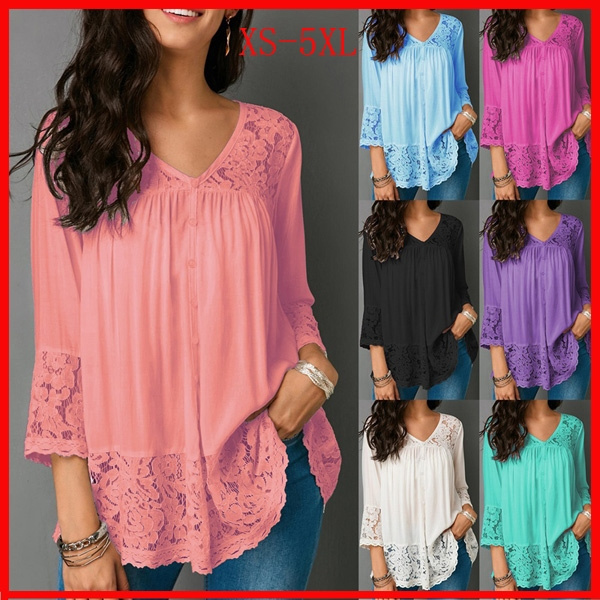 blouse, Fashion, 34sleeve, Irregular