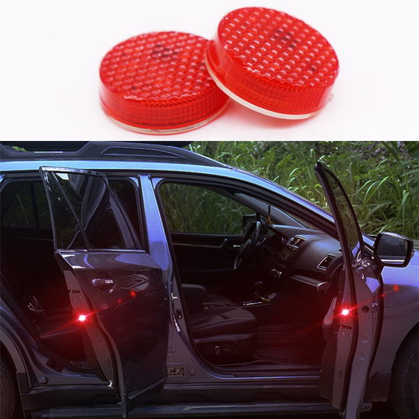 2pcs Car Styling Door Strobe Warning Light for Chevrolet Cruze Aveo Captiva  Lacetti Peugeot 308 508 208 5008 Accessories