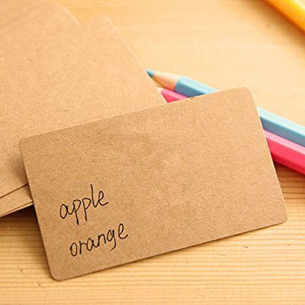 Wish 100pcs blank kraft paper business cards word card message wish 100pcs blank kraft paper business cards word card message card diy gift card reheart Image collections