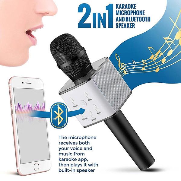 Q7 Handheld KTV Karaoke Mic Wireless Microphone Bluetooth Speaker Player