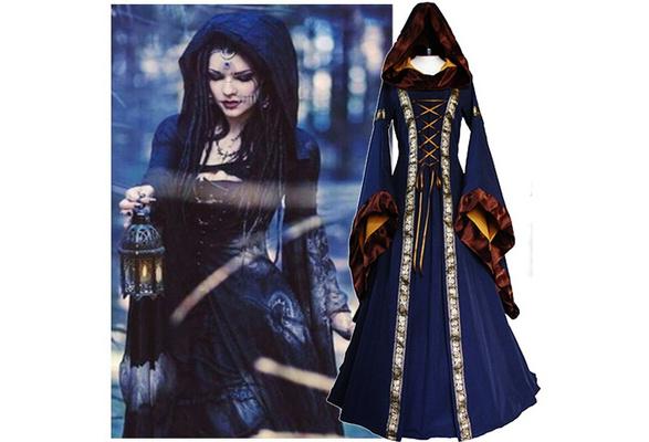 3a4eae583f71e Women 2018 Fashion Long Sleeve Dress Medieval Renaissance Vintage Bandage  Lady Peasant Dresses Long Sleeve Girl Dress