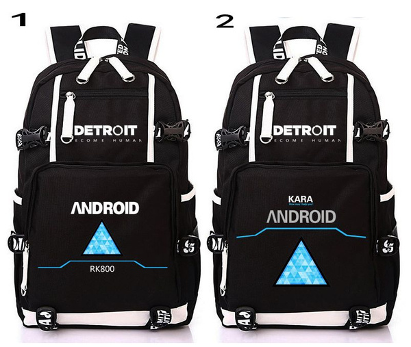 53104a47cbc4 Hot Game Detroit Become Human Design Backpack Bag School Backpacks Laptop  Shoulder Bags Cosplay Mochila