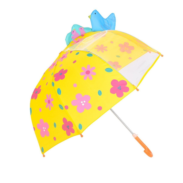 66aeb5a0eadd Rainbrace Umbrella Kids Fashion Childrens Dome Rain Umbrella 37-Inch for  Boys and Girls with Clear Window Panel