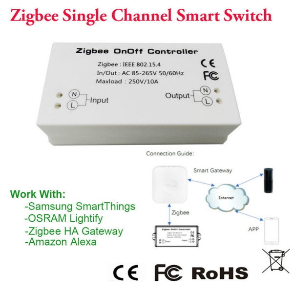 HA Gateway Zigbee OnOff Controller Channel Switch For Alexa Samsung  SmartThings App