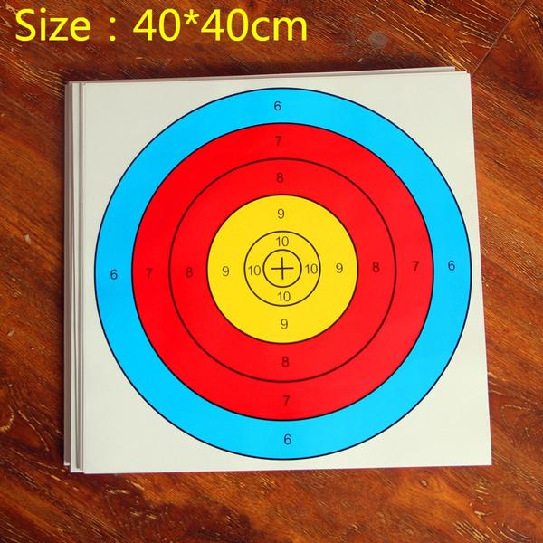 Gun Target, Archery Target, Shooting Target, Target Map, Shooting Slingshot  Dart EVA Target, Half Ring Target Paper, 40x40 Target Paper